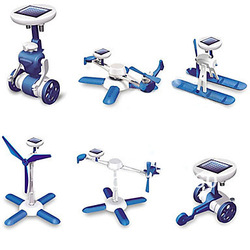 Free Shipping Fashion 6 IN 1 Solar Toy Educational DIY Robots Plane Kit Children Gift Creative(China (Mainland))