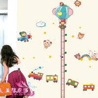 Rails doll foot height wall stickers child real background stickers