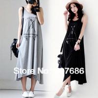 New Style Pregnant Dresses Summer Long Skirt Maternity Round Neck Dresses #5011