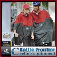 Lovers' men woman freesize  ventilate TECHTEX red,blue cycling raincoat cape poncho windbreak waterproof for height of160-180cm