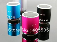 Cheap price 20pcs Portable MA-02 speaker ,USB Mini speaker, Cylinder Shaped Speaker,TF Card Music Player DHL Free shipping