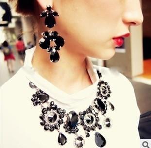 Promotion shippig 2013 new design Miranda Kerr elegant shining rhinestone necklace fashion jewelry for woman