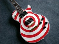 G-Zakk Wylde LP Bullseye New arrival Black red circle  Electric Guitar