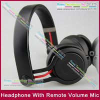 Free Shipping DHL Mixr Headphone with Mic Remote Volume  DJ Studio On Ear Headphones 6colors factory sealed HOT!