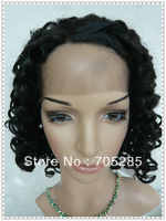 Free shipping heat resistent synthetic lace front wig for black women