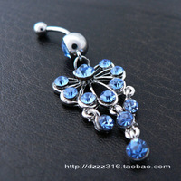 Fashion cute exquisite titanium umbilical ring umbilical nail navel button belly dance navel piercing jewelry