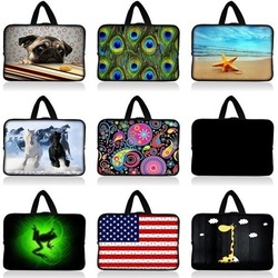 "Free Shipping With Handle 7"" Tablet Laptop Neoprene Sleeve Pouch Case Bag For 7.9"" Apple Ipad Mini w/Cover(China (Mainland))"