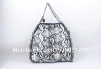Python Falabella Shaggy Deer  fold over Chain Totes shoulder Bags DHL free shipping