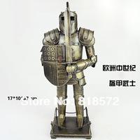 Handmade metal model European medieval knights armor  Vintage  model Home decoration Crafts Gifts Collage(Tpoo2)