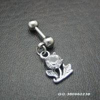 Fashion cartilage titanium small flowers of the ear pendant earring earrings ear stud ear piercing jewelry