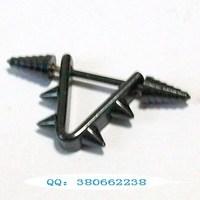 Fashion accessories medical titanium multi-purpose universal ring black piercing ring stud