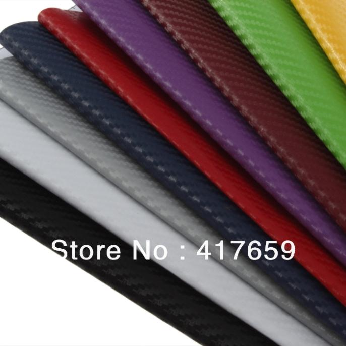New127cm x 30cm DIY Carbon Fiber Wrap Roll Sticker For Car Auto Vehicle Detailing free shipping(China (Mainland))