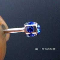 Fashion cartilage titanium rhinestone earring earrings ear stud ear piercing jewelry