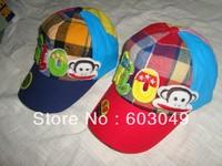 Free Shipping fashion baseball cap sun-shading  cap Kids summer sun hat casual cap for 2-6years children sports cap