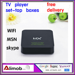 Network TV set-top box HD Android 4.2 intelligent wireless WiFi TV player 3D movies online watch CPU1.6GHz 1G DDR3 free shipping(China (Mainland))
