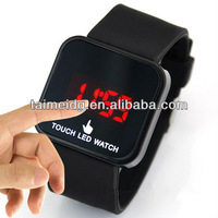 50pcs/lot free shipping led touch screen watches Fashionsoft band