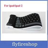 Promotion! Free Shipping Mini Bluetooth wireless Keyboard waterproof Silicone keyboard For iPad roll up keyboard 30pcs/lot