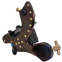 free shipping   new hot  Professional Damascus handcraft tattoo machine gun for shader 10 coils DA-320