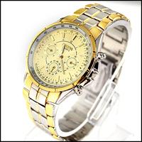 New Fashion Gloden Luxury Gentle Men's Man Teenagers Analog Dress Metal Quartz Wrist Watches, Free & Drop Shipping