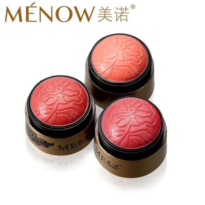 Menow meinuo silky cream blush 13g 3 temptation petals blush ball trimming blusher red(China (Mainland))
