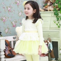 Children&#39;s clothing 2013 spring child patchwork one-piece dress female child princess dress
