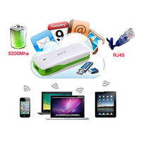 New arrival Mini portable pocket 3G WIFI Wireless Router with 5200 Mah power bank Mobile Hospot Cloud storage