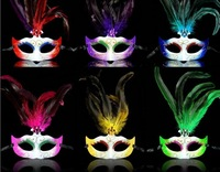 Free shipping hotsale Sexy ladies Venetian mask with feather for  Dance party 120pcs/lot