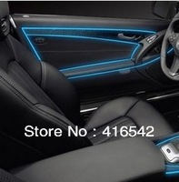 Free shipping 1pc 1.5m car atmosphere decorative lamp \ EL car interior strip light cold lamp with driver