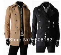 New Fashion Man long Jacket  male cotton double button coat  warmer sweatshirts  201208075