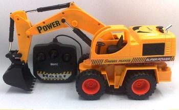 Remote control toy car model of four-way remote control excavator crane engineering car excavator 6168