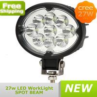 IP68 E-mark 27W CREE LED Work Light Spot Beam Lamp ATV Offroad Truck UTE Boat,Wholesale cree led worklight,cree light FREE SHIP