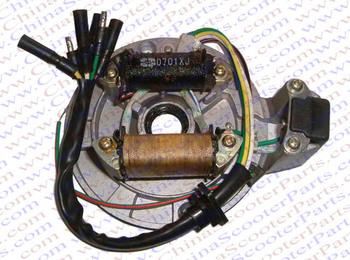 Magneto Stator Plate AC 2 Pole Coil 6 Wire 50CC 70CC 90CC 110CC 125CC Lifan Zongshen Loncin Kaya Dirt Pit Bike ATV Quad Parts
