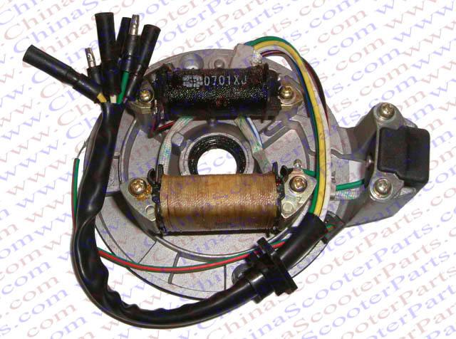 Magneto Stator Plate AC 2 Pole Coil 6 Wire 50CC 70CC 90CC 110CC 125CC Lifan Zongshen Lon