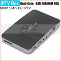 New Dual Core IPTV MK815 ARM 1.5G (Cortex-A9)Android 4.1 jelly bean Mini TV Box DDR3 1GB+8GB Google TV HK Post Freeshipping