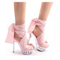 2013 sandals high-heeled shoes female silks and satins crystal princess shoes cutout platform thin heels