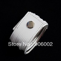mixed wholesale 10pcs/lot  Charm Punk Rock Multilevel rows hide PU rope leather Bracelet  chain wide Wristband  zhb27x