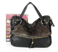 Free shipping-Fashion bag women's fur handbag vintage single shoulder cross-body bags