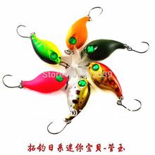 6X japonês Crank iscas de pesca Baby Mini 28 milímetros 2g proprietário Gancho Simples(China (Mainland))