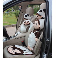 Free shipping MONCHHICHI series three-dimensional doll car lumbar support headrest cushion pillow cartoon style