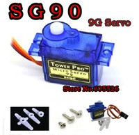 10PCS Tower Pro 9g Mini Micro Servo for AirplaneAeroplane 6CH Rc helcopter Kds Esky Align Helicopter SG90