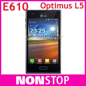 "E610 Original LG Optimus L5 E610 GPS WIFI 4.0"" 3G 5MP WIFI GPS Unlocked Mobile Phone 1 Year Warranty"