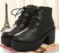 Sty nda lacing martin boots platform thick heel boots fashion high-heeled boots female boots