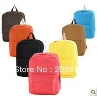 AD059 Men and women bags candy color casual bag canvas rucksack backpack shoulder bag student sports bag
