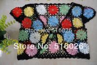 Boho Summer Floral Shrugs Boleros Jacket Handmade Crochet Beaded Boleros Shrugs MULTICOLOR