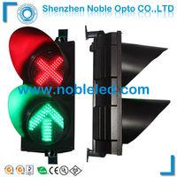 red cross green arrow led traffic light