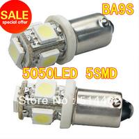 Super bright!! Free shippng 500 pcs Car LED Signal parking Light BA9S 5050 5smd Interior Bulbs 12V+ 18 months warranty