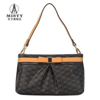 Fashion fashion women's handbag color block  bow women's messenger bag 2485 free shipping