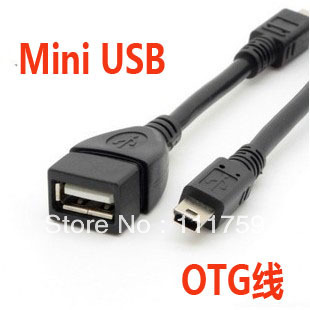 Free Shipping Micro-USB Mini-USB otg line universal data transfer cable for mobile phone tablet standard usb mouth(China (Mainland))
