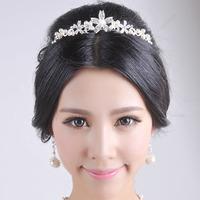 Bridal tiaras hair band  wedding accessories pearl Crystal Head Band Headband the bride Hair accessory 0427