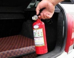 Car fire extinguisher car fire extinguisher car safety products 1kg fire extinguisher(China (Mainland))